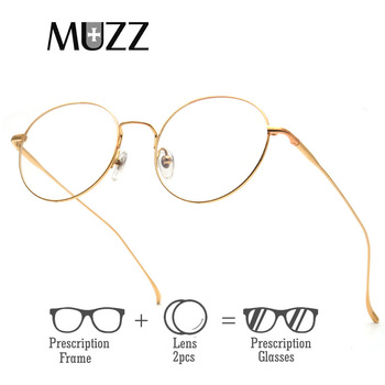 Pure Titanium Round Eyeglasses Frame Optical Frames Unisex Glasses Retro Eyeglasses Prescription Women myopia frames With Lens фото