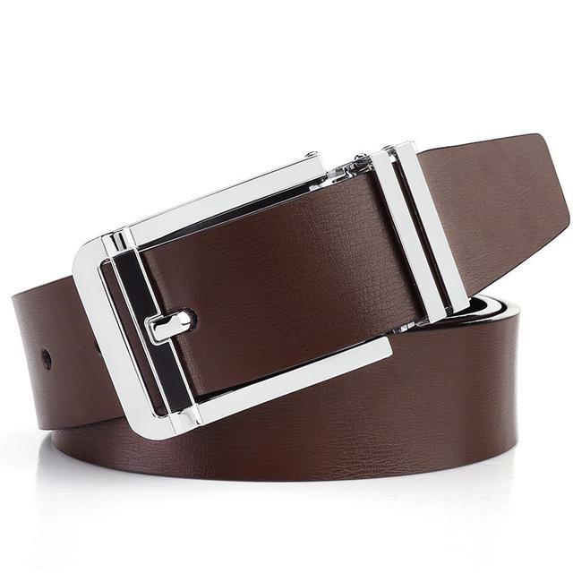 Elegant Genuine Leather Pin Buckle belt For Men