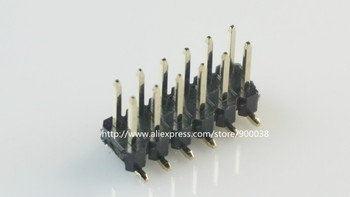 500pcs 2x5 Pin 10 Positions 2.54 mm SMT PCB Male Header dual row surface mount PCB Tin Rohs Reach two rows SMT Vertical
