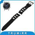 22mm caucho de silicona watch band para samsung gear s3 classic/tallado frontera inoxidable pre-v hebilla de la correa pulsera de la correa