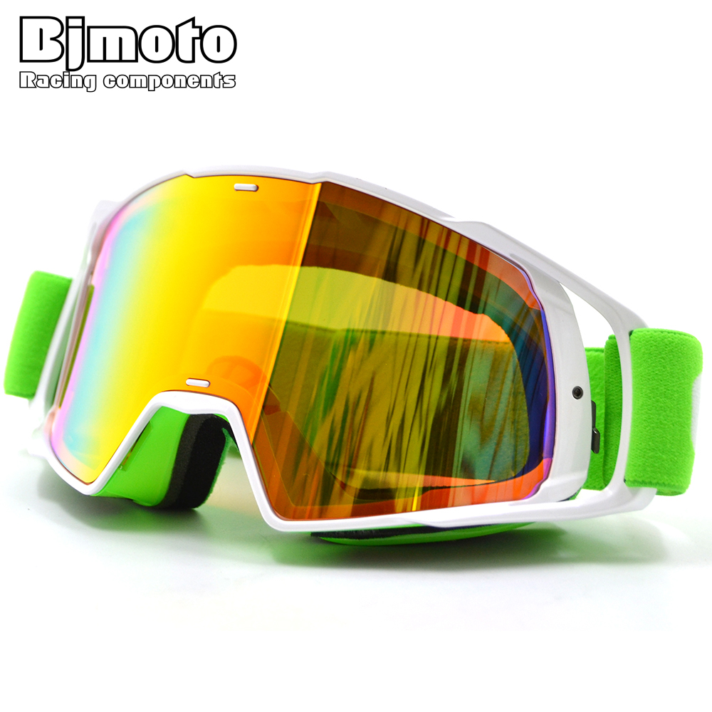 BJMOTO Unisex Motocross Goggles Motorcycle Racing Eyewear Skiing Snowboard Detachable UV Protection