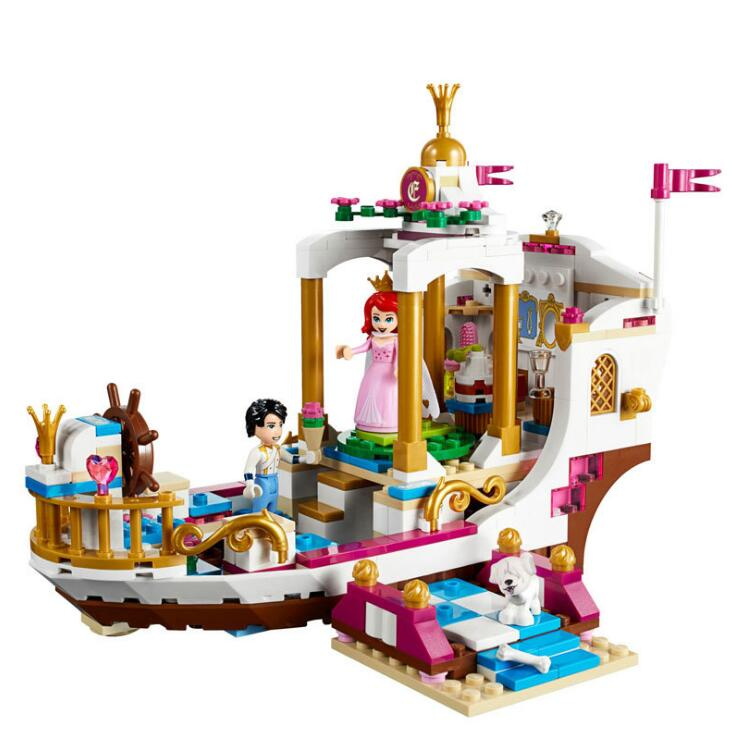 Lepin 25013 The Royal Celebration Boat Set Building Blocks Bricks Toys For Children Gifts Compatible LegoINGlys 41153 new lepin 16009 1151pcs queen anne s revenge pirates of the caribbean building blocks set compatible legoed with 4195 children