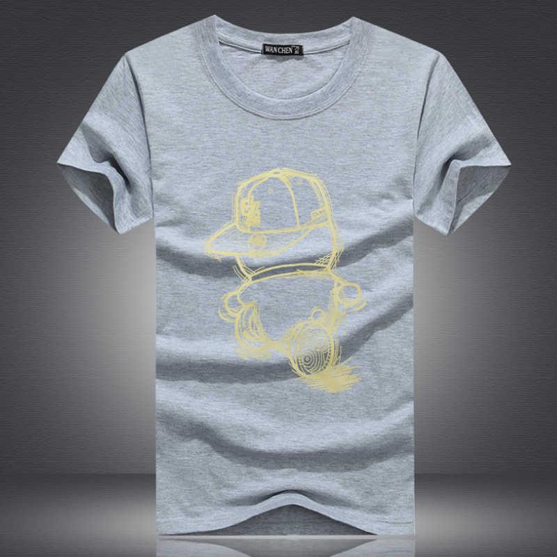 9e7bcc9fdb7d8 Мужские футболки из хлопка, большие размеры, футболки Homme, летние  повседневные мужские футболки с