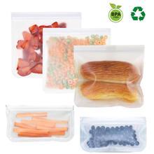 4 шт силиконовые многоразовые герметичные контейнеры с замком-молнией для детей, ланч-закуски/сэндвич/морозильная камера, пакеты для еды, кухонные контейнеры для хранения