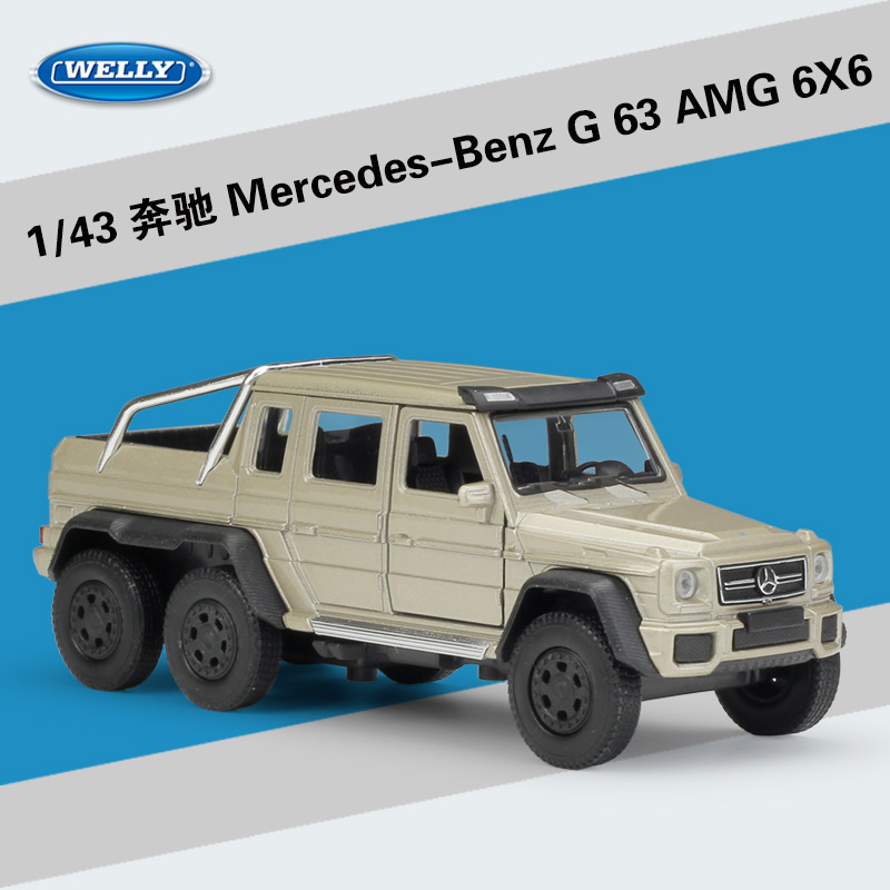 WELLY 1:43 High Simulation Classical Model Toy Benz AMG 6X6 Metal Truck Car Alloy Classical Pull Back Diecast Collection Gifts