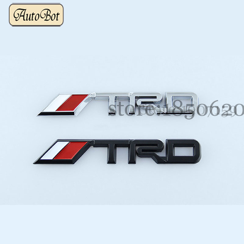 3D Modified Car badge Sticker Styling TRD Metal Emblem car ...