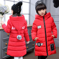 Girls long section Winter Down Girl thickening warm jacket Baby Girls Casual hooded Down & Parkas Children Down Jackets Coats
