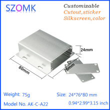 4 psc a lot SZOMK Project box aluminum partial powder coating look electrical component enclosure 24*76*80mm