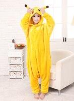 Ücretsiz kargo Onesie Pijama Cosplay Kostüm Pokemon Pikachu Pijama Yetişkin Pijama Partisi sıcak onesie