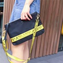 2017 development mannequin Clutch Baggage Purses Nylon and Real Leather-based Crossbody Bag Waterproof Informal Zipper Shoulder Messenger Baggage