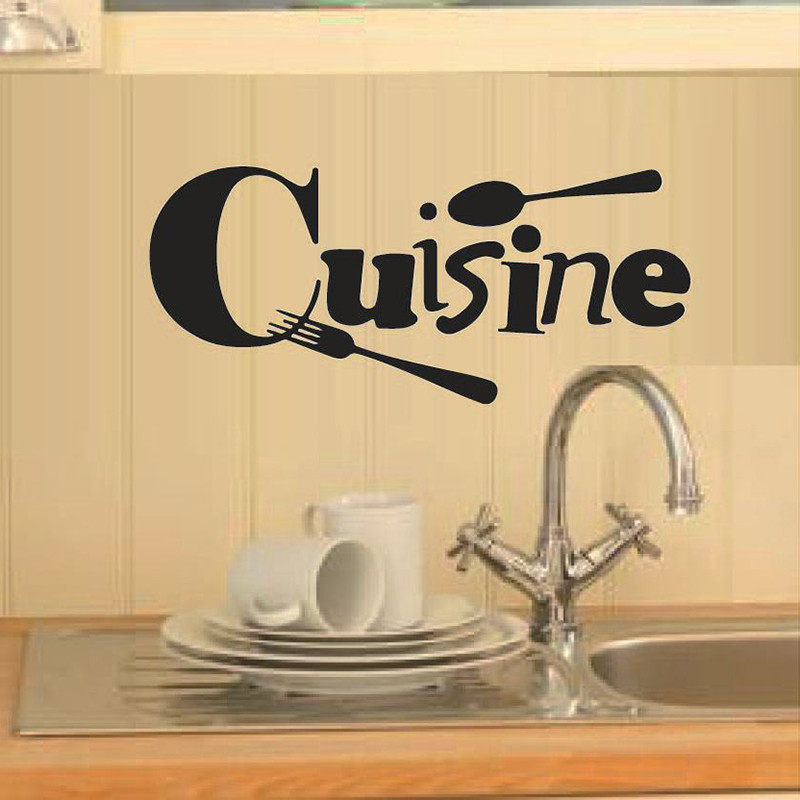 Cuisine Stickers French wall stickers home decor wall decals for ...
