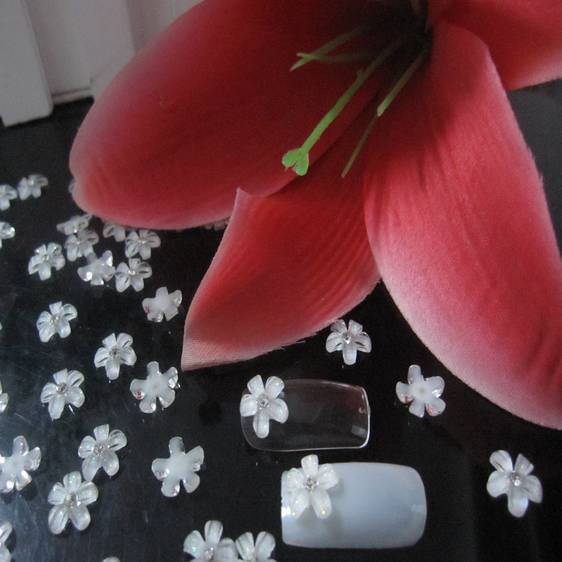 Красивый маленький цветочный узор цветы из каучука прорезиненный плоский Бисер для дизайна ногтей Скрап заказ DIY 500 шт прямо с фабрики
