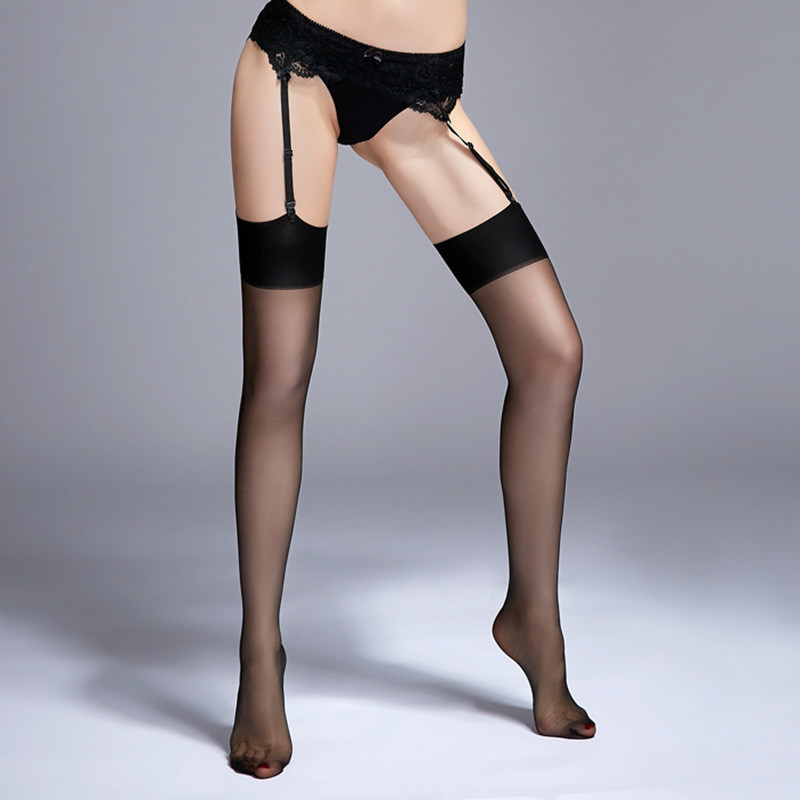 Sexy Nylon Stockings Female Erotic Lingerie Thigh High Stockings For Women Sexy Lingerie Pantyhose Medias For Garter Belt