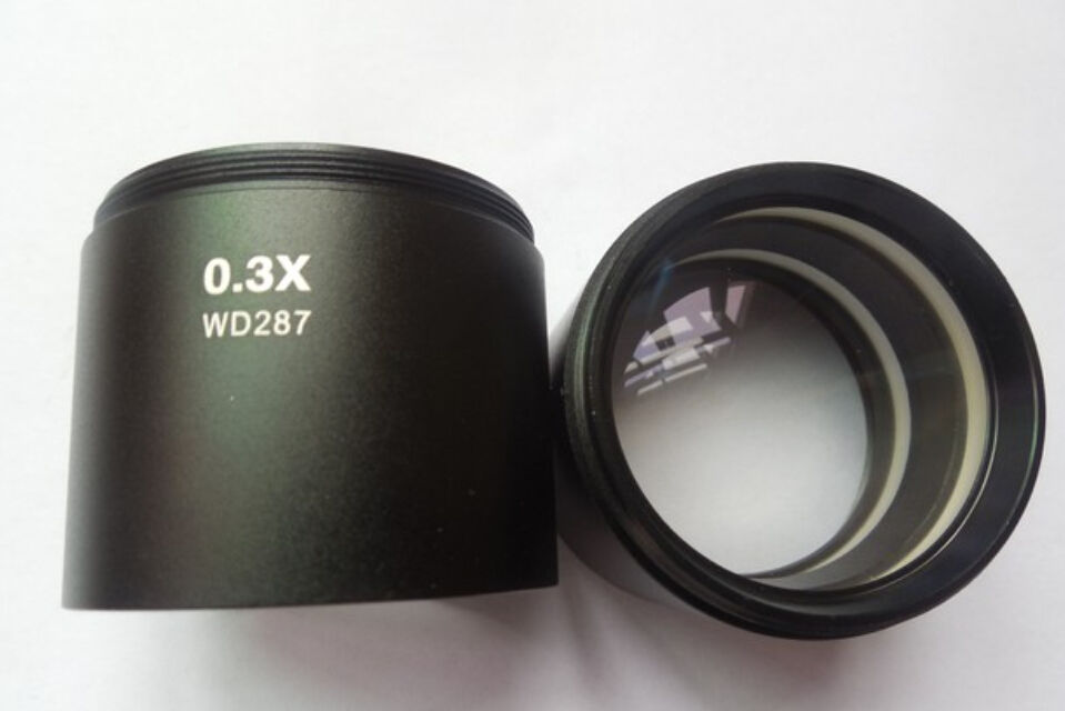 ФОТО 5 PCS WD287 0.3X Stereo Microscope Auxiliary Objective Lens Barlow Lens with 1-7/8