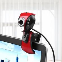 Kebidu цифровой USB 50 м мегапиксельная веб-камера 6 светодиодный ПК камера HD веб-камера настольная веб-камера с микрофоном для ПК ноутбук камера