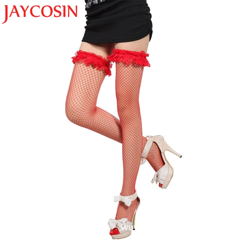 SIF Hot! 2018 100% Brand New Fashion Sexy Women Lace Mesh Long Breathable Soft Thigh High Silk Stocking Hot Dropship 70359
