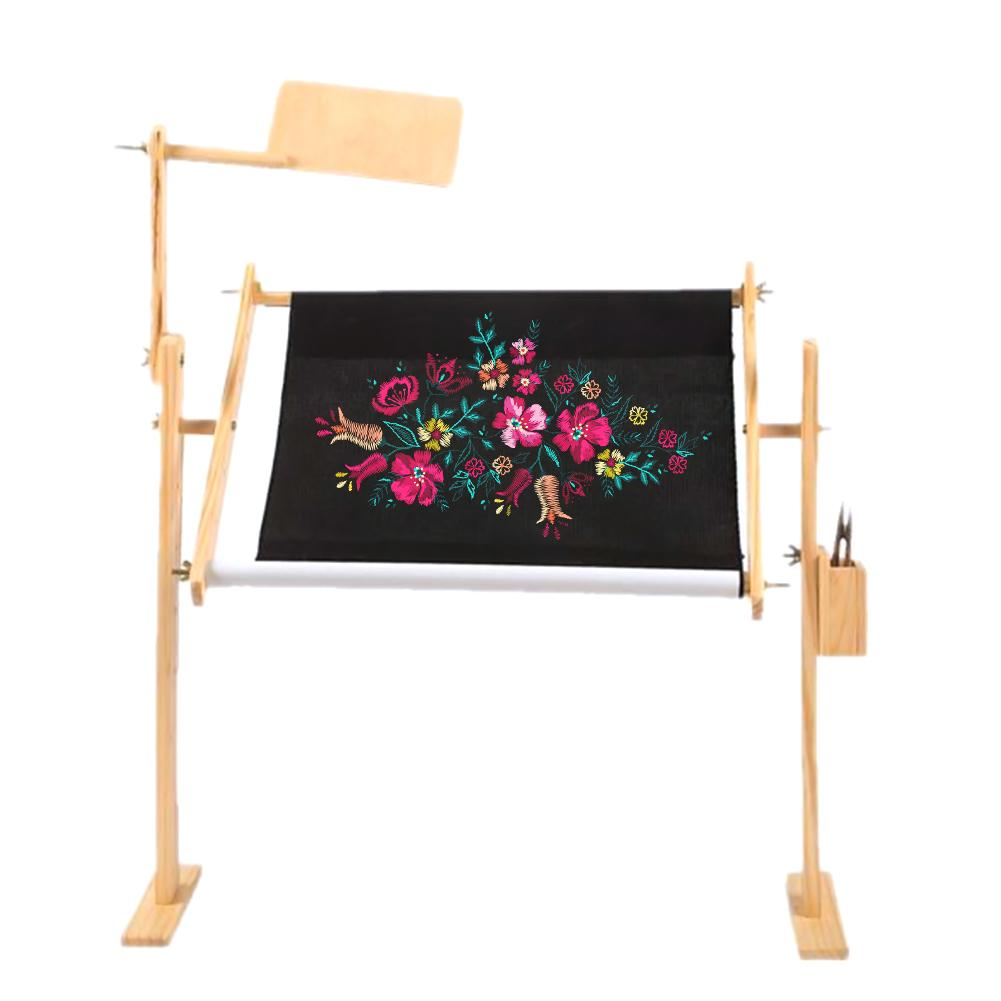 Pine Adjustable Embroidery Frame Bed Cross Embroidery Desktop Embroidery Frame Large Innovative Embroidery Frame