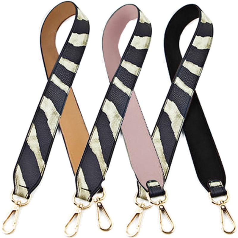 Fashion Camouflage Straps PU Leather Female Multicolor Handle Shoulder Bags Zebra Pattern Belt Accessories For Women Bag 90cm