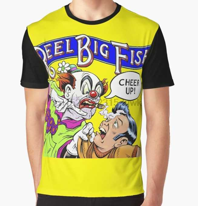 All Over Print T-Shirt Men Funy tshirt Cheer Up Reel Big Fish Short Sleeve O-Neck Graphic Tops Tee women t shirt