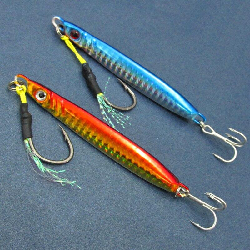 Jigbait Lure Shore Long Range Casting Fishing 23g/42g Jigs Metal Spoons Spinner Bait Spanish Mackerel цена и фото