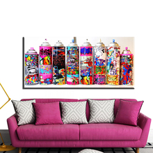 xh1901 Street Painting Big Graffiti Art Canvas For Wall Picture Spray canvas painting Living  room