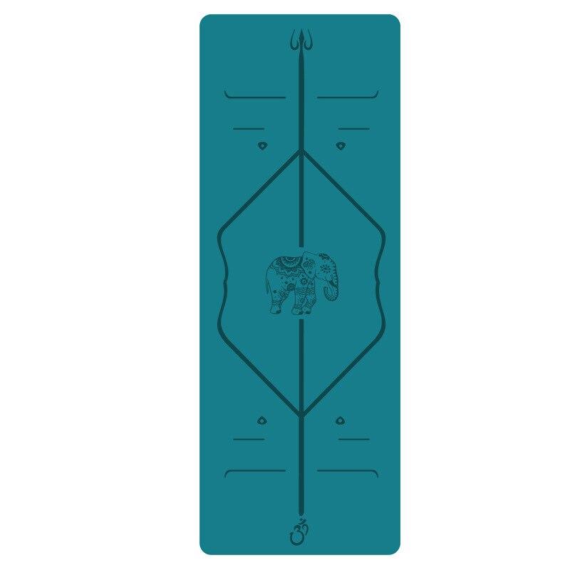 New 5MM yoga mat natural rubber professional anti slip fitness mat thickened widened 68cmPU body line
