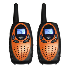 TS628 Portable 8/22CH Walkie Talkie Orange Two Way Radio Transmitter PMR/FRS 400-480mhz Transceiver 1W/0.5W 2PCS + Earphones