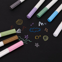 10 Color Colorful Water Chalk Pen Watercolor Gel Pen for Black Board Marker Pen DIY Wedding Birthday Photo Album Scrapbooking E