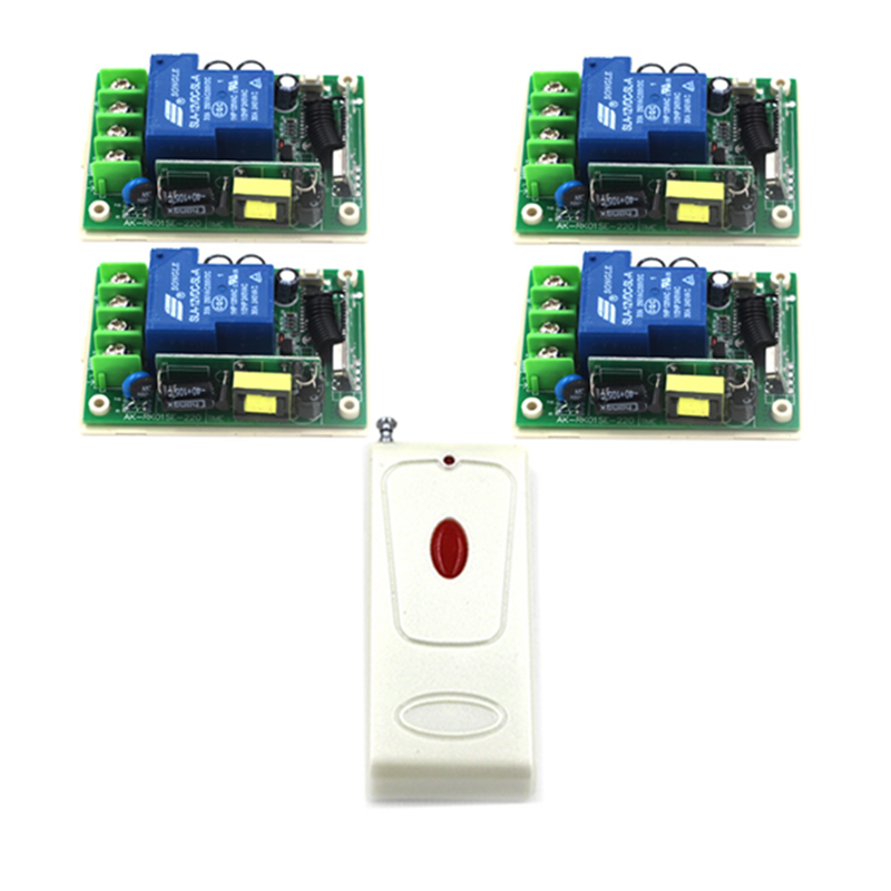 New Arrivel 110V 1CH Multi-function Learning Code Universal LED Lamp Remote Control Switch (85~250V / 30A) 4386