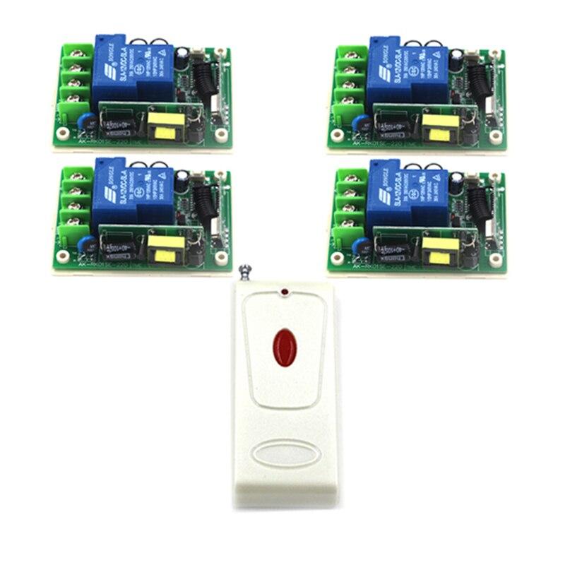 Nouveau Arrivel 110 V 1CH multi-fonction Code d'apprentissage universel lampe à LED commutateur de télécommande (85 ~ 250 V/30A) 4386