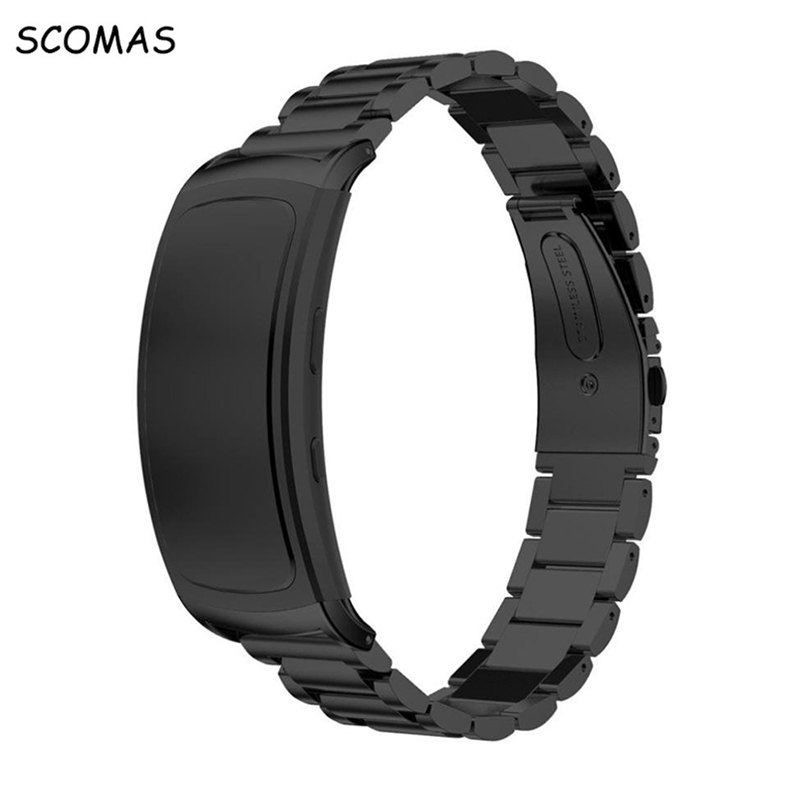 SCOMAS Replacement Stainless Steel Watch Bracelet Band for Samsung Gear Fit2 Wrist Watch Strap for Samsung Gear Fit 2 SM-R360 luxury silicone watch replacement band strap for samsung gear fit 2 sm r360 wristband 100