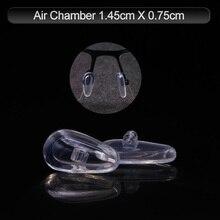 COLOUR_MAX almohadillas suaves antideslizantes de silicona con cámara de aire, 5 pares/10 unidades, con tornillos/destornillador/pinzas para gafas de sol