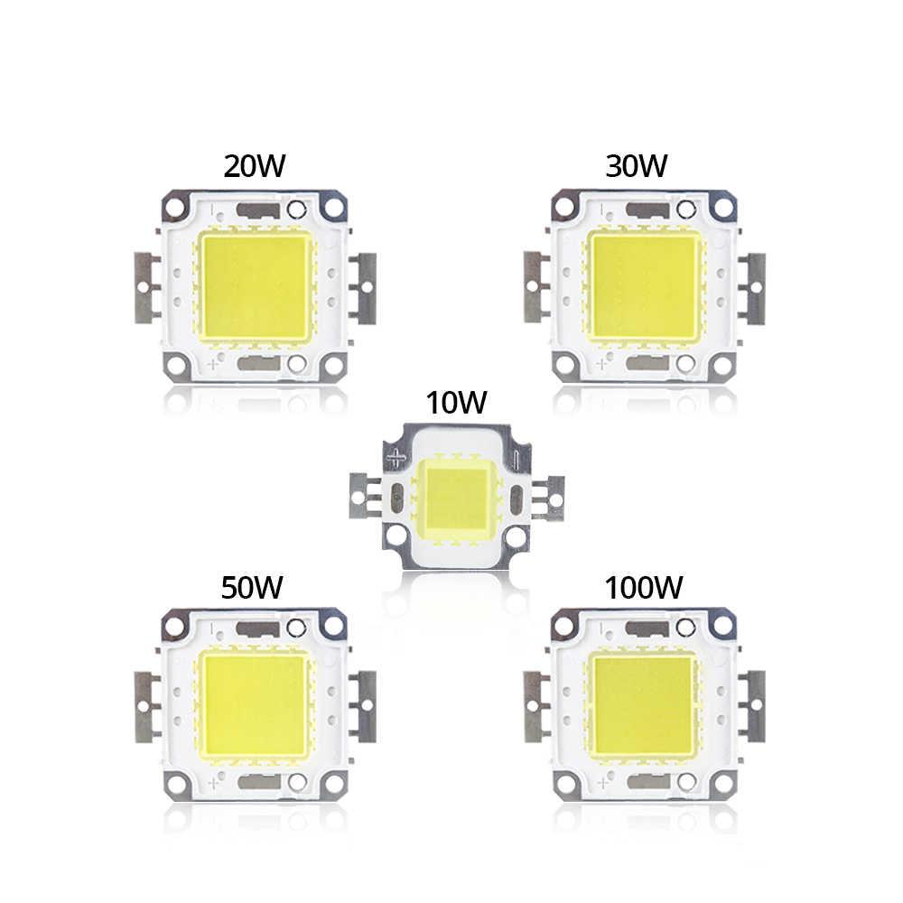 בהירות גבוהה LED חרוזים שבב 10 w 20 w 30 w 50 w 100 w מתח גבוה COB משולב LED מנורת עבור DIY הארה זרקור זרקור