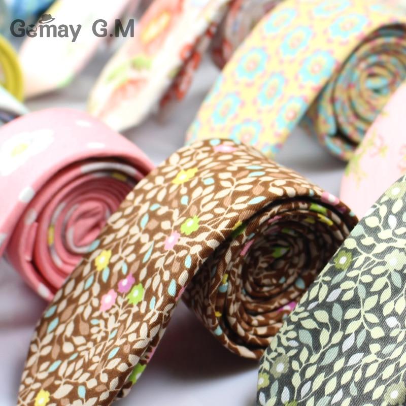 Marke Baumwolle Floral Krawatten Für Männer Anzug Dünne Mens - Bekleidungszubehör - Foto 2