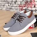 Men shoes 2016 fashion Casual shoes Increased Korean version Canvas shoes men Gray blue