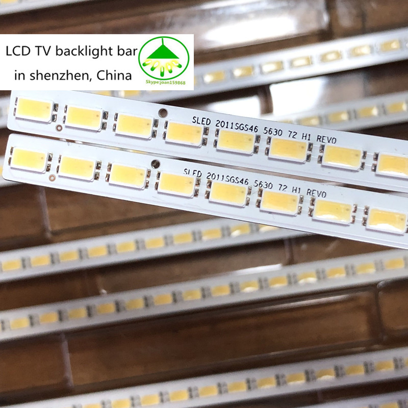 2pcs/lot 100% New 72LEDs 520MM 46-DOWN LJ64-03035A LED Strip SLED 2011SGS46 5630 72 H1 REV0 For LTA460HQ12 LED46860iX LTA460H