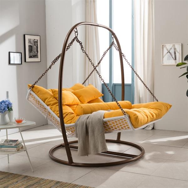 Large double hammock couple indoor balcony outdoor rattan swing ...