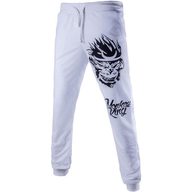 2016 Monkey King Prints Mens Joggers Fashion Men Pants Harem Pants XXL Sweatpants Drop Crotch Pants Men