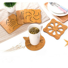 Anti-scalding 6 inch Bamboo Heat Resistant Trivet Mat Hot Pot Holder Teapot Pad Coaster Table Placemat CoffeeTea