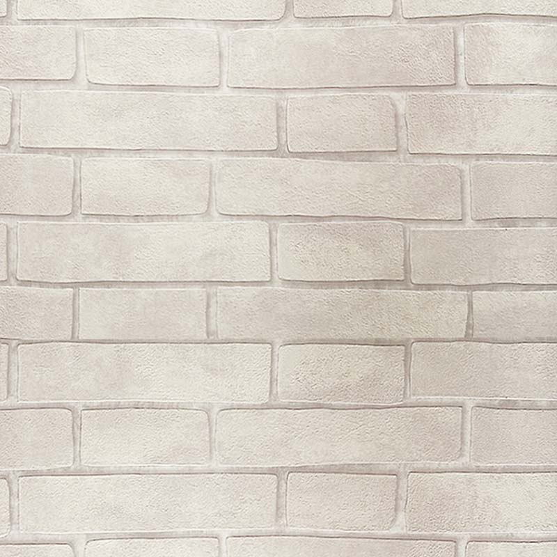 Vintage Embossed Wallpaper Brick Wall Roll Modern Grey