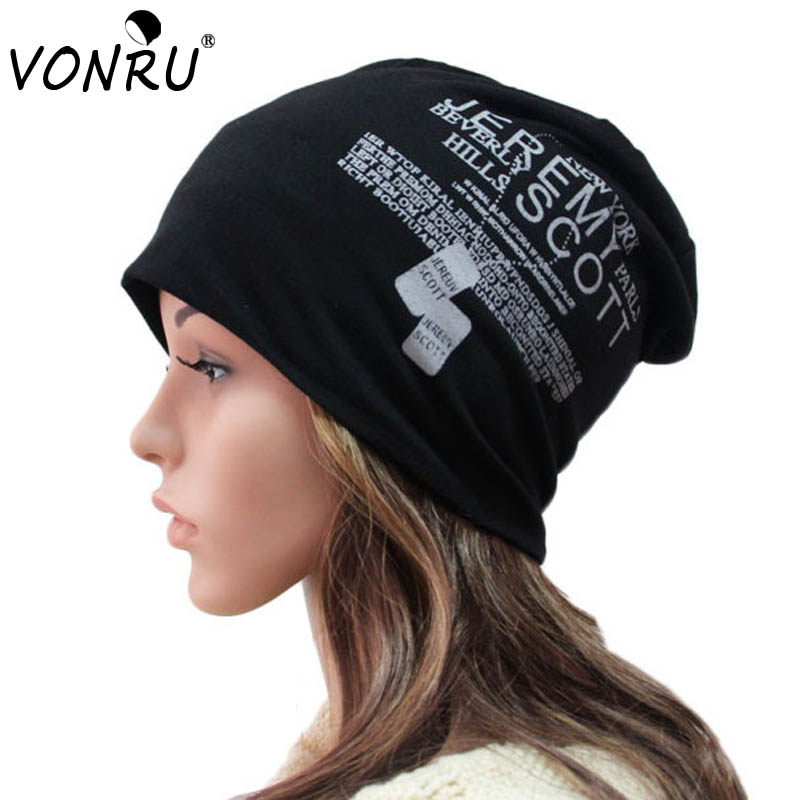 New Autumn Fashion Baggy Beanies with Letters Unisex Cotton Warm Winter Hats  for Women Hip Hop Men Bonnet Head Cap-in Skullies   Beanies from Apparel ... c5b7b5e88f5