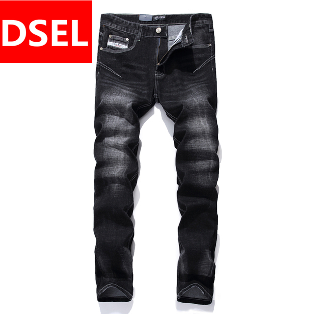 Cool Black Jeans Men Straight Denim Biker Jeans Trousers Designer ...