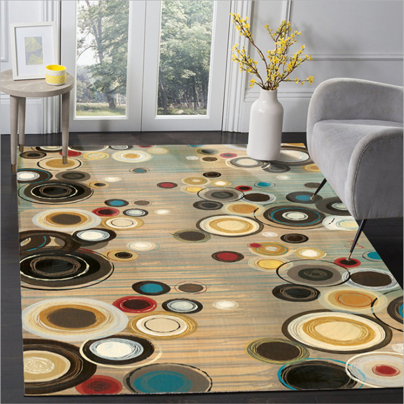 AOVOLL Fashion European Modern Abstract Retro Color Circle Pattern Carpet Rugs And Carpets For Home Living Room Bedroom Rugs
