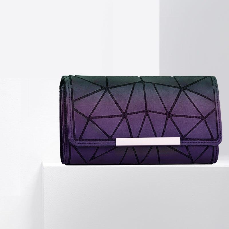все цены на Ladies Folded Geometric Coin Purses Standard Clutch Bag Diamond PVC Plaid Envelope Handbag Bao Bao for Girls Zipper Card Wallet