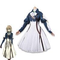 2018 Anime Violet Evergarden Cosplay Costume Auto Memory Doll Girls Halloween Carnival Dress Medieval Gothic Uniform Custom Made