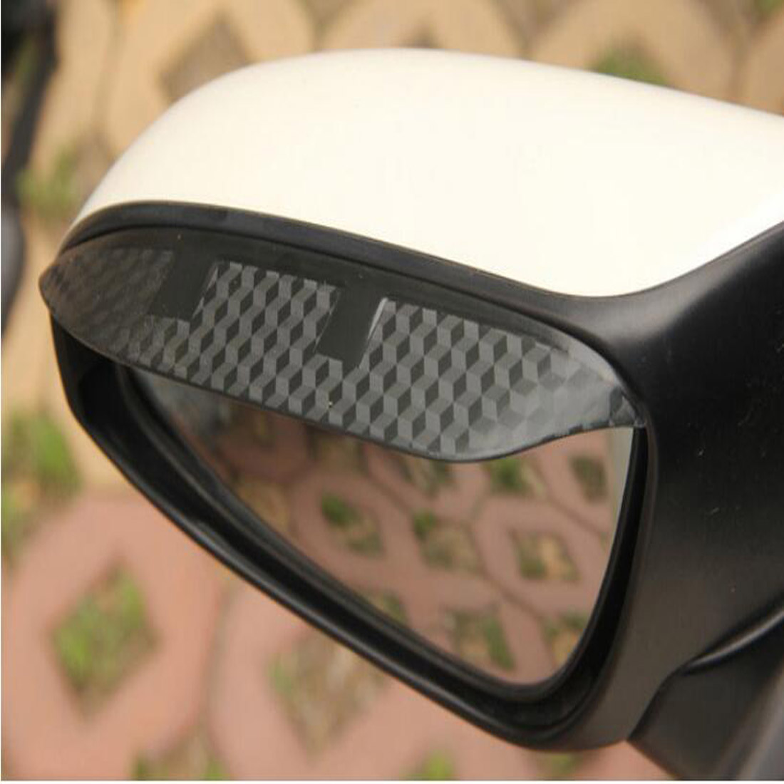Dongzhen 2X Car Styling For <font><b>PEUGEOT</b></font> 308 <font><b>408</b></font> 508 Auto Car Carbon Fiber Rearview <font><b>Mirror</b></font> Rain Eyebrow Accessories Car-cover image