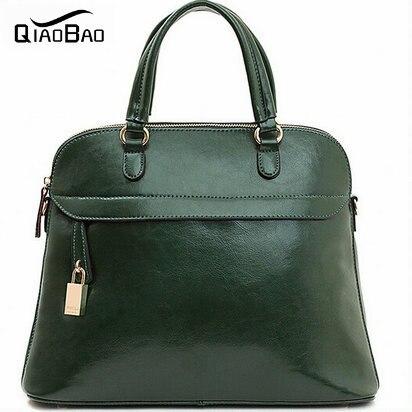 QIAO BAO New Women Natural Leather Bags Fashion Women Leather Handbag Vintage Fe