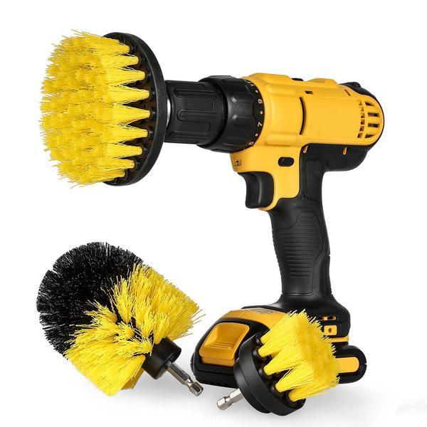 Power Scrubber Brush Set for Bathroom | Drill Scrubber Brush for Cleaning Cordless Drill Attachment Kit Power Scrub Brush 1