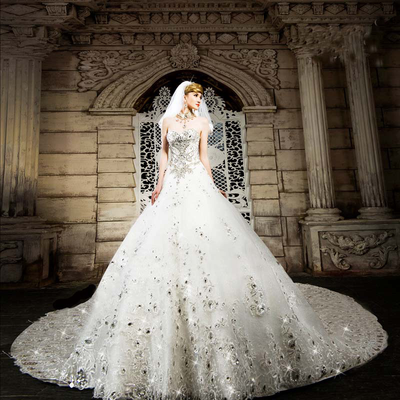 Online Buy Wholesale diamond wedding dress from China ...
