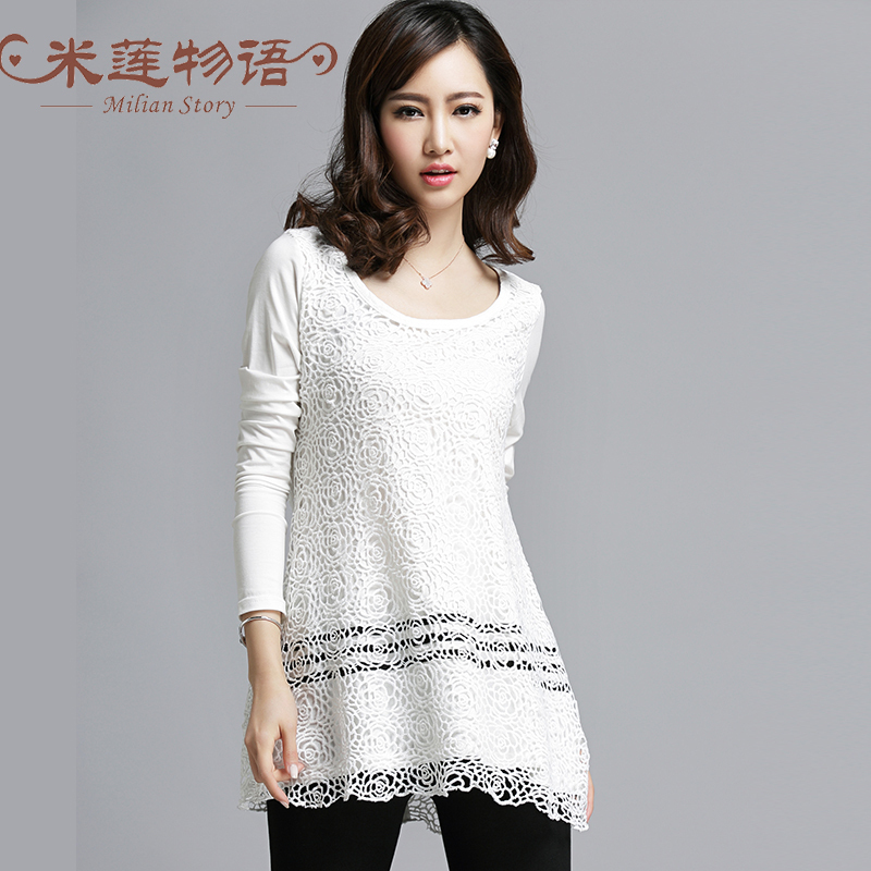 2015 Spring White Lace Dress Plus Size Women Clothing White Dress